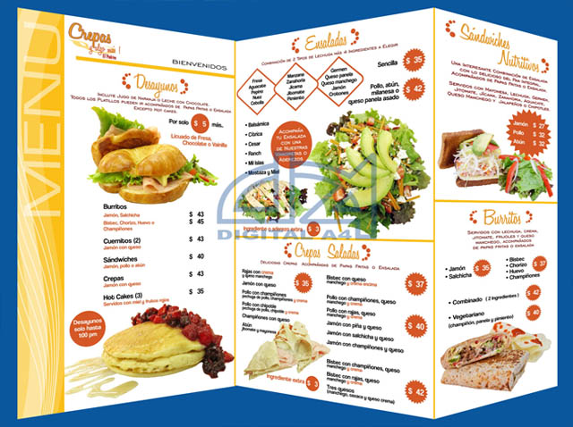 Invitaciones boda bautizos mexico df marcador giratorio for Disenos de menus para restaurantes